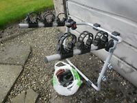 BIKE/CYCLE,CARRIER/RACK, IN VERY GOOD CONDITION, HOLDS UP TO 3 BIKES. Comes with all straps