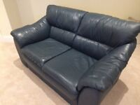 2 Seater Leather Sofa —-Dark Blue /Navy