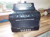 A Hohner Compadre accordion BC C Sharp like new plays great quick sale £325