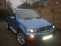 BMW X5 3.0 D SPORT - 2005 AUTO - ESTORIL BLUE- PANORAMIC ROOF AND SUNROOF -