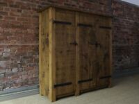 Triple Wardrobe, Rustic, Plank Wood, Indigo Furniture