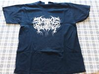 Dragged Into Sunlight rare black metal t-shirt in large