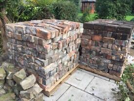 Hand clamped clay ornamental bricks 1200