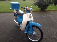 Honda C50 Moped Classic Original 1 Former Owner Low Miles New Tyres
