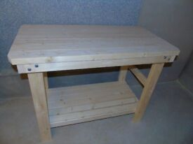 MADE TO ORDER Handmade Wooden Workbench- 2Ft, 3Ft, 4Ft and 5Ft