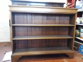 large antique bookcase / cabinet