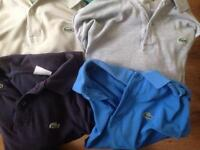 Polo tops Lacoste £10 the lot