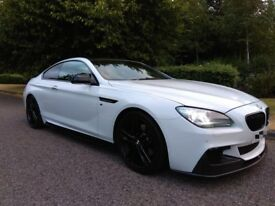 2012 BMW 640D M SPORT COUPE **RARE M-PERFORMANCE KIT** ALPINE WHITE** FULLY LOADED** MODS ** PX