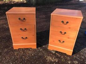 Pair of Pine Laminate Bedside Tables - Delivery Available