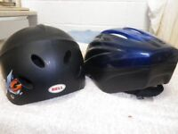 A Classic 'Bell' skating (or board) helmet for sale (plus a free cycling helmet).