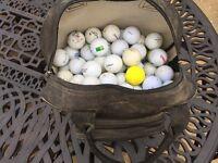 Bag of practice golf balls