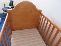 Obaby B Is For Bear Cot Bed-Country Pine