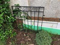 Black iron gate free for collection