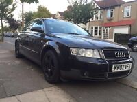 Immaculate Audi A4 2002, 6month MOT, 3 owners, full service history. Only GBP1500