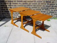 REE DELIVERY Retro Nest Of Tables Vintage Furniture W