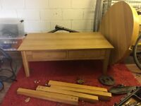 *BARGAIN* Solid oak coffee table with some surface wear and tear