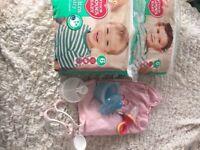 Baby bundle job lot nappies ect