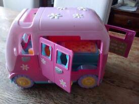 ELC Rosie's World camper van, 3 dolls & accessories