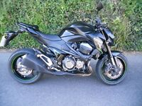 Kawasaki Z800, Low miles in stunning metallic black