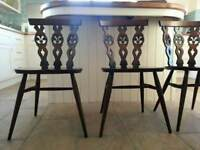 4 x Ercol Windsor Dining Chairs