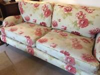 Wonderful hand crafted floral sofa