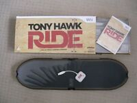 Tony Hawk Wii game complete with board, receiver dongle and game disc - in original box