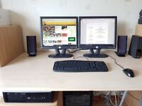 HP Compaq 6000 Pro Core2Duo 3Ghz Small Form Factor PC with Dual Monitors