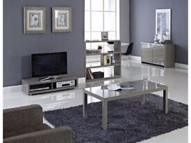 New in box PURO STONE HIGH GLOSS COFFEE TABLE W1200 x D597 x H370mm
