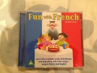 Fun with French CD for kids, 4+, only played with once from pet and smoke free home