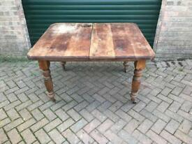 Old pine table with nice legs