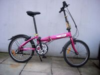 Compact Light Weight Folding/ Commuter Bike by B'twin, Great Condition, JUST SERVICED/ CHEAP PRICE!!