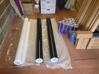 Vinyl wrap and headlight tint film plus tubes and squeegees (JOB LOT)