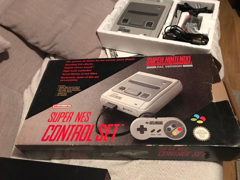 Boxed Super Nintendo Bundle for Sale!!!