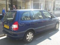 Vauxhall Zafira Club, 1.6 petrol, manual, good condition, very low mileage and Cheap!