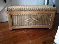 Wicker blanket box