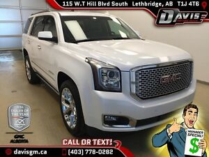 Used 2016 GMC Yukon 4WD Denali-Heated/Cooled Leather,DVD,Sunroof