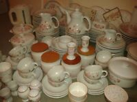 Large Quantity of Hedge Rose Tableware