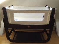 SnuzPod bedside crib with mattress and protector