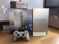PlayStation 2, silver, boxed