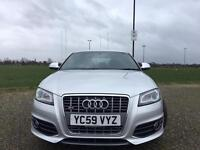 Audi s3 sport back DSG AUTOMATIC IN SILVER ONLY 44500 miles full history £11500