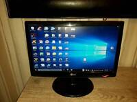 "LG 19"" widescreen Monitor black"
