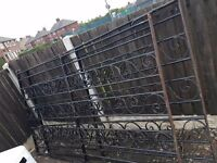 Big black solid steel gates for sale
