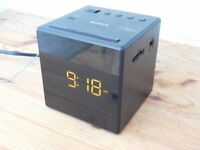Sony ICFC-1 Alarm Clock Radio Black - Used (Collection only)