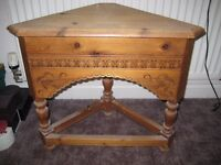 Pine dressing table stool