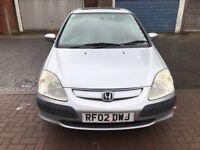 2002 Honda Civic 1.6 i-VTEC SE Executive 5dr Manual @07445775115