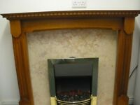 ELECTRIC FIRE AND SURROUND at Haven Housing Trust's charity shop