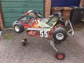 Cadet Kart with Honda engine ready to race