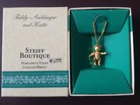 Steiff Boutique Gold Plated Bear Pendant and Necklace