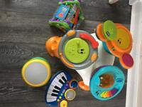 Instrument activity table with extra's