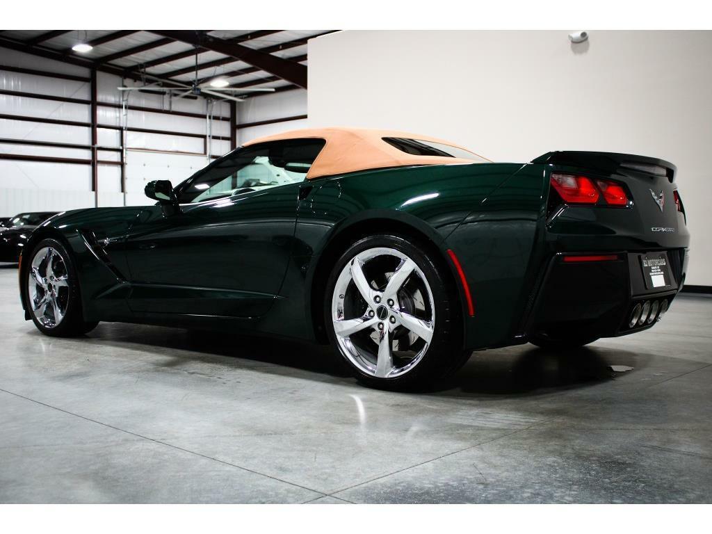 2014 Green Chevrolet Corvette Convertible 3LT | C7 Corvette Photo 3